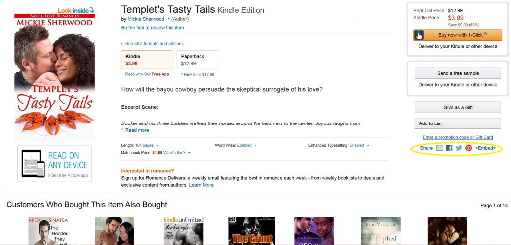 TEMPLET'S TASTY TAILS BOOK PAGE